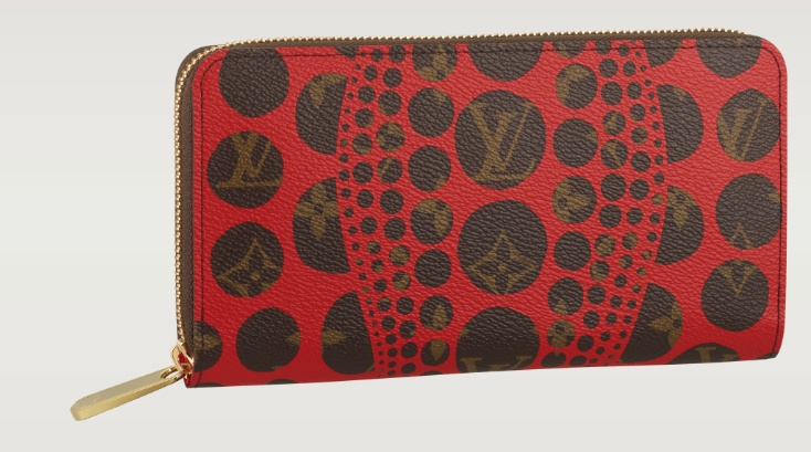 Yayoi Kusama Zippy Wallet - Love it in WHITE...can't find a picture.