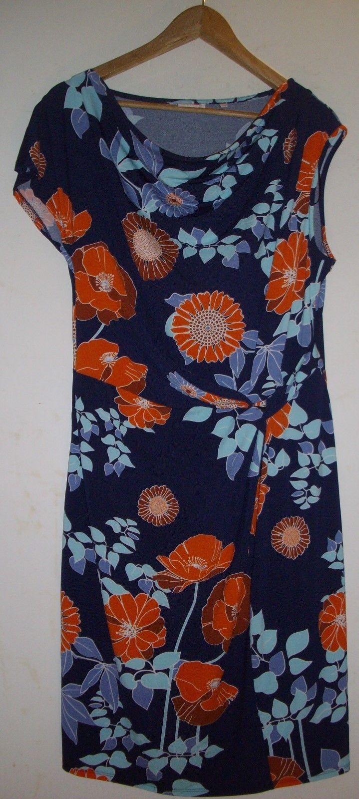 Leona By Leona Edmiston Stretchy Multi Coloured Polyester Dress - Size 14 | eBay