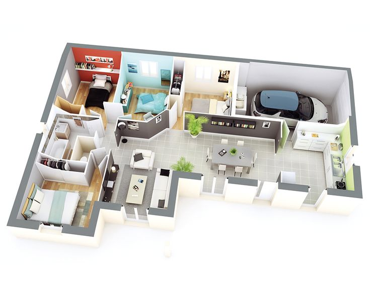 53 best Projet maison images on Pinterest Cottage floor plans