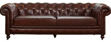 Vintage Furniture Classics - Leather | Kendle Leather Chesterfield Sofa traditional-sofas