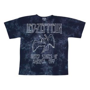 Led Zeppelin USA Tour 77 Tie-Dye T-Shirt - Relive the magic of Led Zeppelin's 1977 USA Tour in style with this officially licensed tie-dye Led Zeppelin t-shirt.