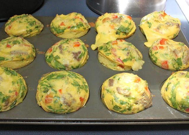 my nutritious dish: mini egg souffles. I make them every weekend except with egg whites  and veggies only.