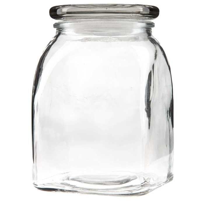 1000ml clear glass jar with lid u0026 gasket