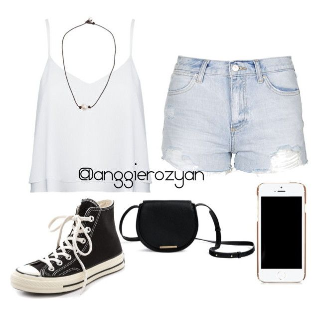 """""""Fancy white"""" by anggierozyan on Polyvore featuring Topshop, Alice + Olivia, Moschino and Converse"""