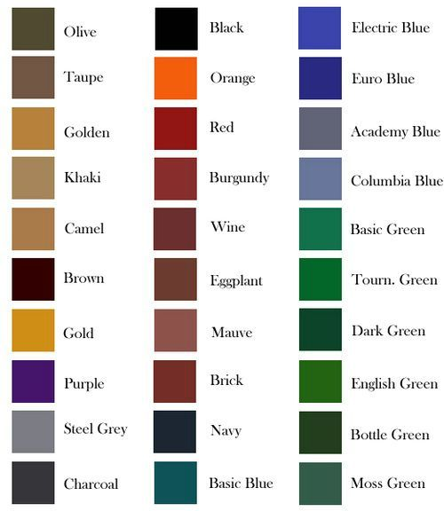 Pool Table Felt Colors Chart | Pool Table Ideas ...