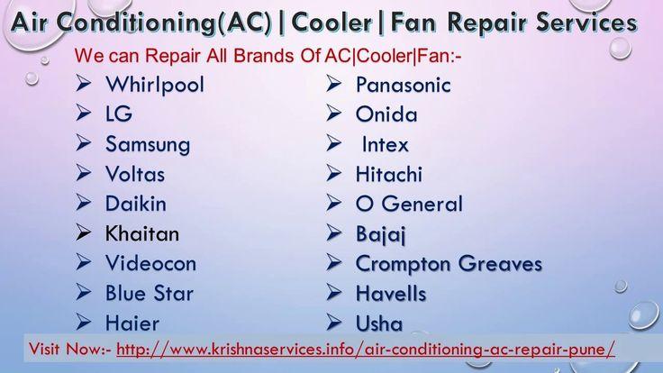 Air Conditioning (AC)|Cooler|Fan Repair Service Pune
