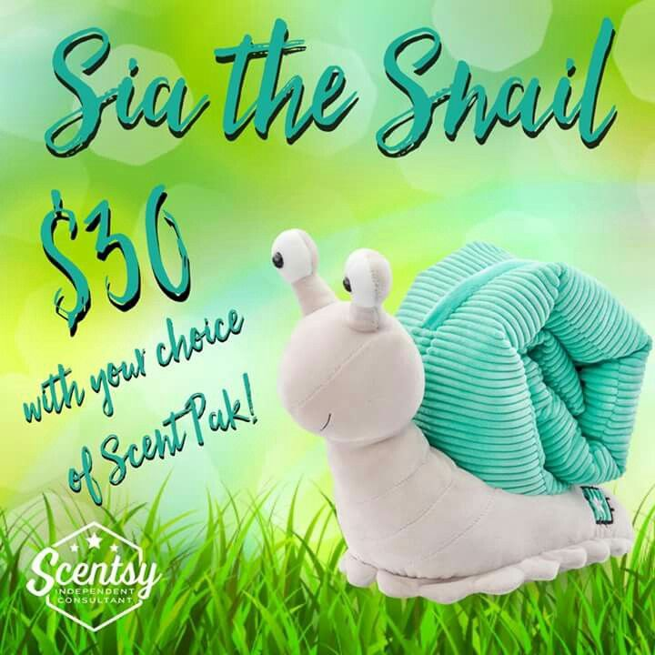 Sia the snail!!! Scentsys newest buddy!! Order now!  Www.scentswithnicolesheil.scentsy.us