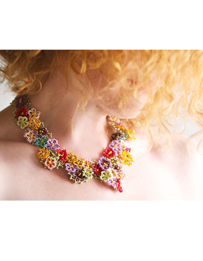 not crochet but tatted jewelry from Lorina Bijoux