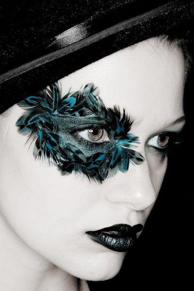 Editorial makeup photography: Shutterproof photography Model: Grace Miller  makeup artist: Cassie Wilson. feather eye makeup