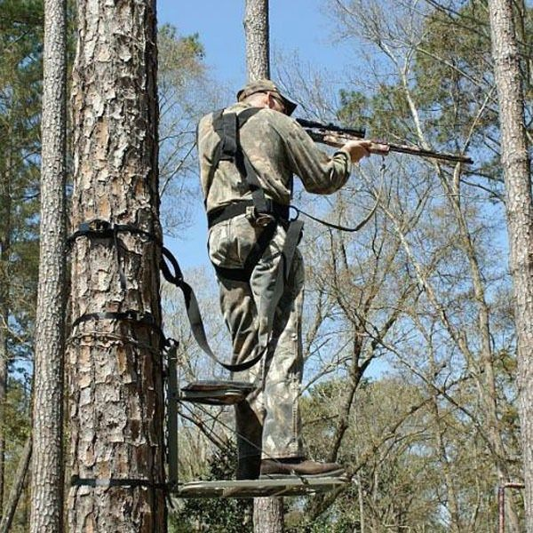 FULL BODY HUNTING SAFETY HARNESS FOR Climber Lounge Fixed Lock On Tree Stand | eBay