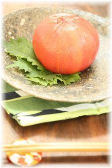トマトのニンニク味噌漬け