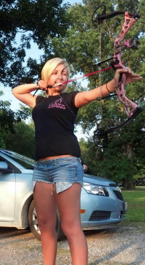 Archery girls naked bow and arrow for Girls fishing naked