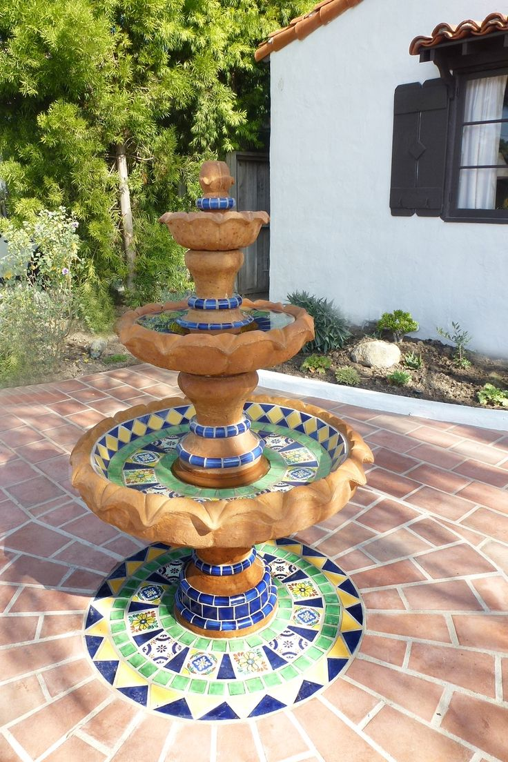 26 best fountains mexican images on pinterest haciendas for Spanish style fountains for sale