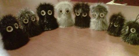 Inuit made sealskin owls, photo by Nuqlu Hess