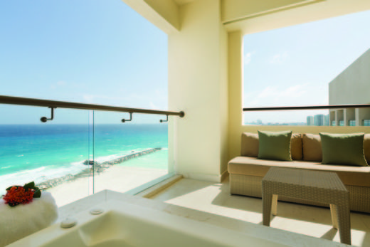 At our all-inclusive family resort in Cancun we have suites for all-ages. Hyatt Ziva Cancun features 547 luxury suites with contemporary Caribbean decor and picturesque views of the crystal blue sea. Your furnished balcony gives you space to relax with breathtaking views of the beach and our infinity pools. | Hyatt Ziva Cancun
