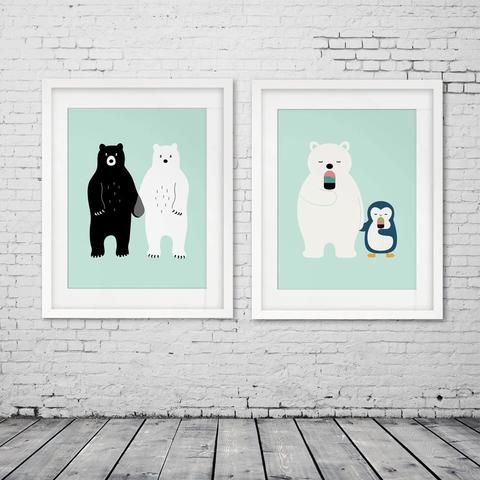 Animal Friends Nursery Prints