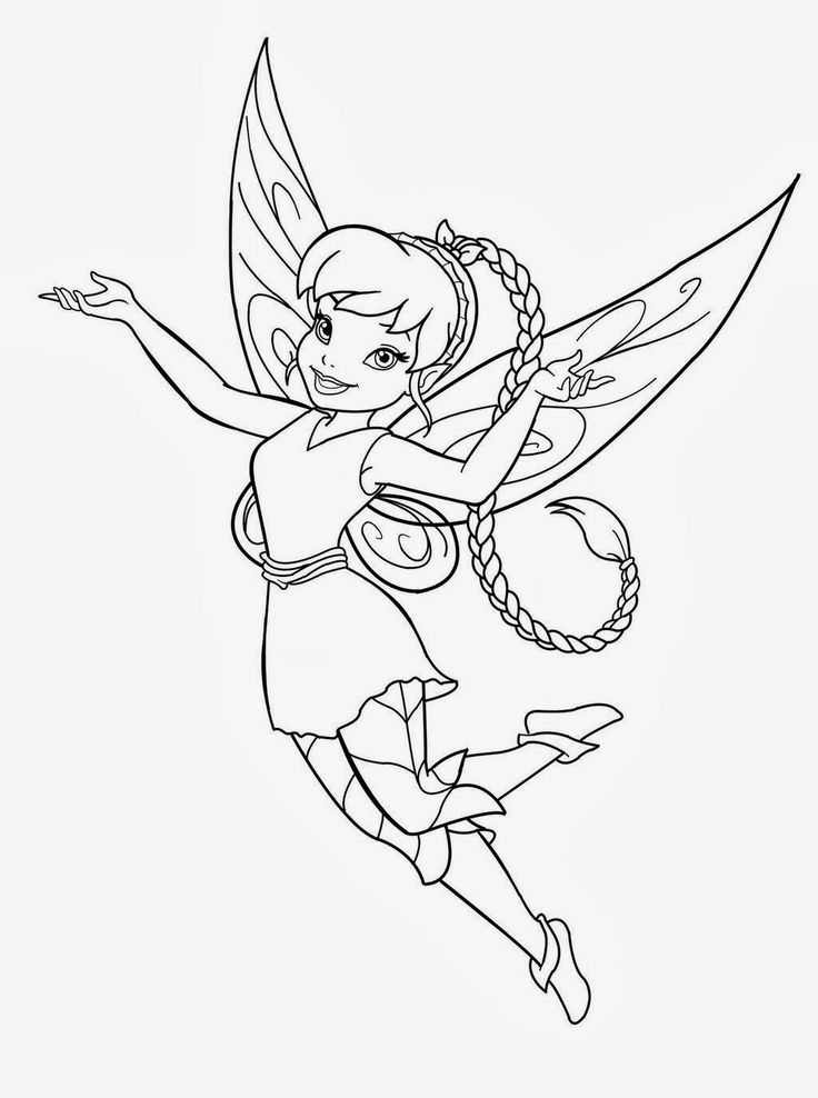 free printable fairy coloring pages in pdf Kleurplaten