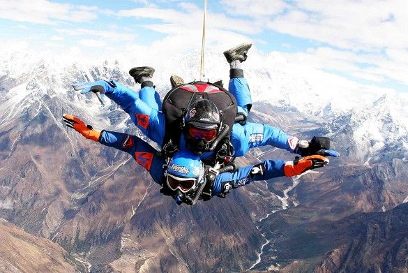 Why climb Mount Everest when you can fly? Everest Skydive not only takes you 29,000 feet over Mount Everest—the highest skydive in the world—it also takes you into the heart of the Sherpa country. The adrenaline rush you get from your freefall is guaranteed to be unrivaled.