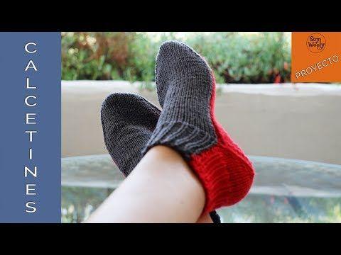 Calcetines tejidos en dos agujas (rectas, no circulares)-Soy Woolly - YouTube