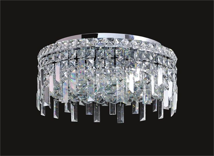 Exlusive we got lites joshua marshal home collection ibiza design 5 light round flush mount ceiling light european or swarovski crystals