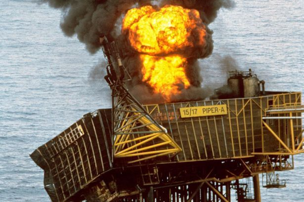 Piper Alpha was engulfed by a huge fireball