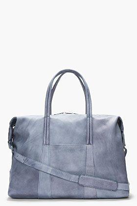 Maison Martin Margiela Pale Slate Grey Camel Leather Duffle for men