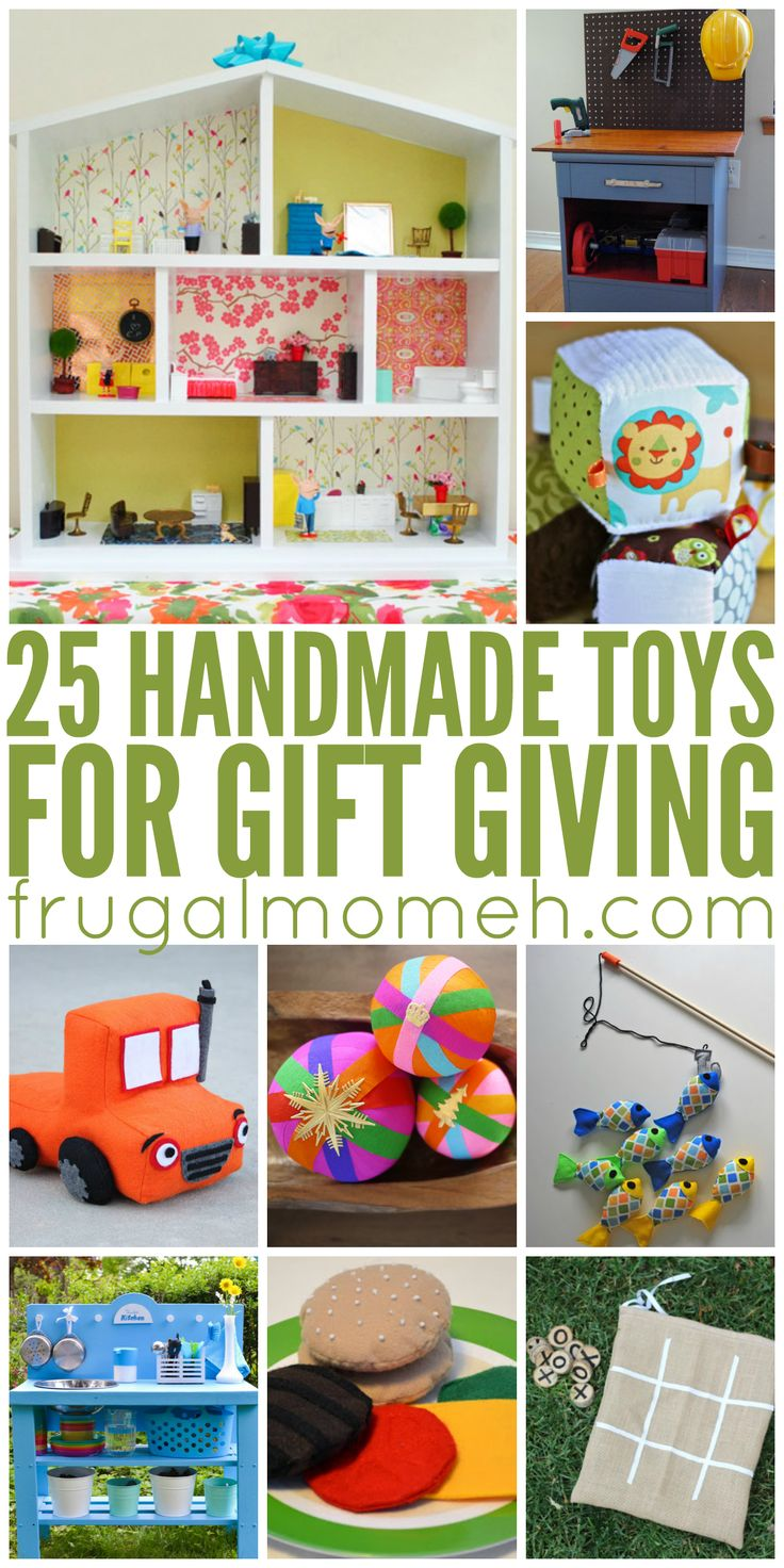 Homemade christmas gifts ideas for kids - 25 Handmade Toys For Gift Giving Perfect For Kids Christmas Gifts Kids Birthday Gifts