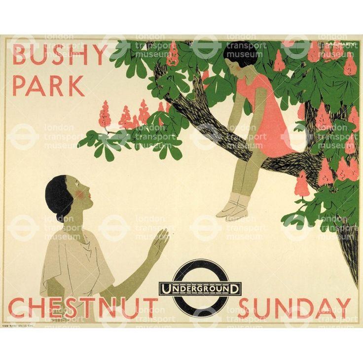 Bushy Park; Chestnut Sunday - Andre Edouard Marty (1933)