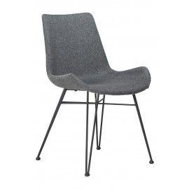 Hype stoel - Grijs - Danform Comfortabele en stoere stoel gestoffeerd in stof. Het onderstel is metaal en zwart. De Hype stoel is verkijgbaar in het blauw, lichtgrijs en grijs.