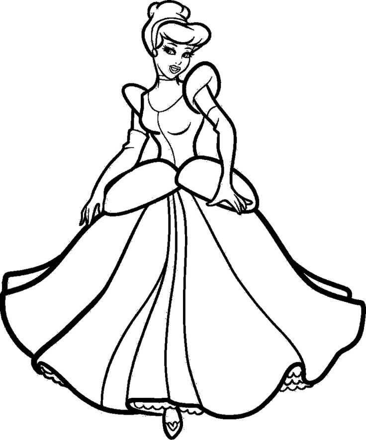 cinderella very beautiful - Cinderella Coloring Pages