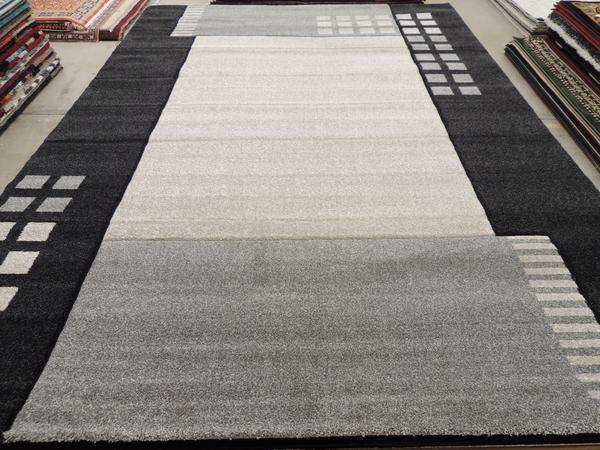 Modern Steel Grey Turkish Rug Size: 240 x 330cm