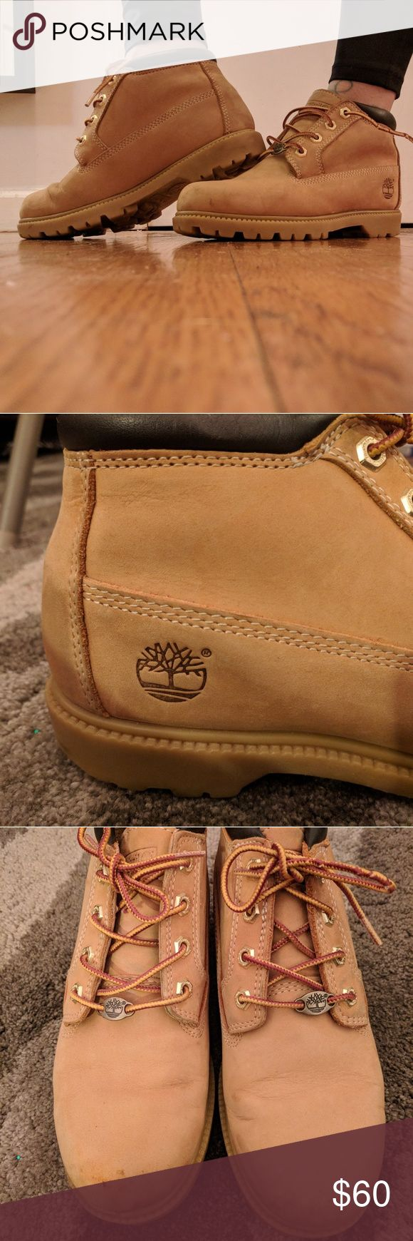 "Timberland ""Nellie"" boots Classic, wheat colored, Timberland booties.  -size: 7.5M -Waterproof -Leather upper -Ankle booties  -Good condition, small scuffs on toe (pictured) Timberland Shoes Ankle Boots & Booties"