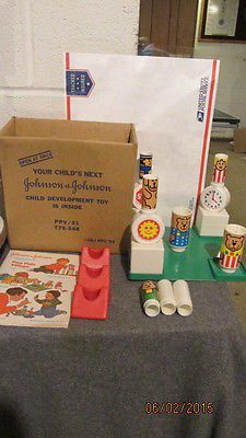 VINTAGE JOHNSON AND JOHNSON  Toys PEG PALS VILLAGE 1983 Infant Toddler IN BOX - BUY NOW ONLY 34.99