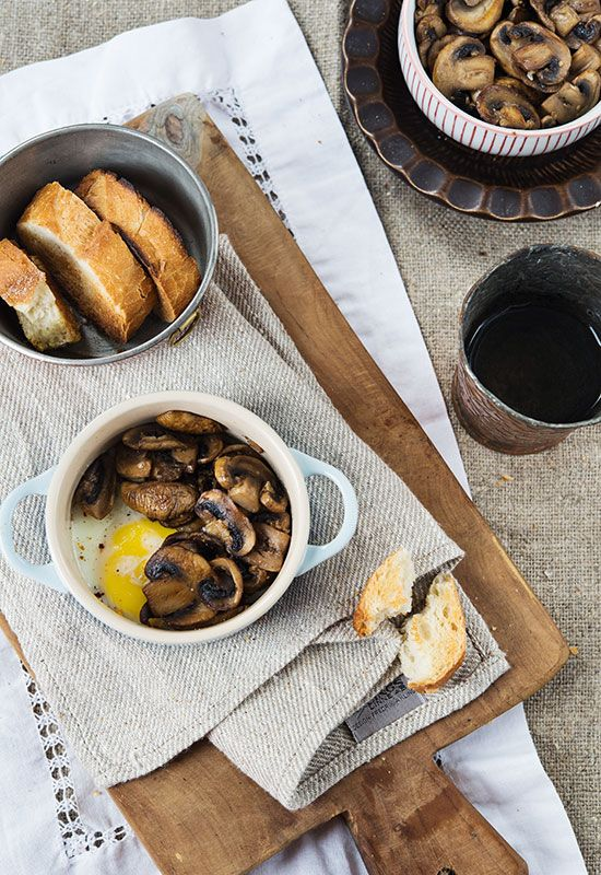 Receta 458: Huevos en cazuelitas con champiñones » 1080 Fotos de cocina