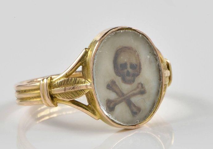 """""""Remember that you must die."""" Translated from Latin, this is the meaning of memento mori, a message that spurred a style of jewelry. Dating as far back at the 16th century, memento mori jewelry is designed to remind wearers of their mortality, with designs that incorporate symbols of death like skulls and crossbones, coffins and snakes."""
