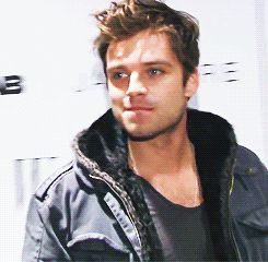 Sebastian Stan. I don't know why this makes me laugh!! I can't work a camera like this man, that's for sure.
