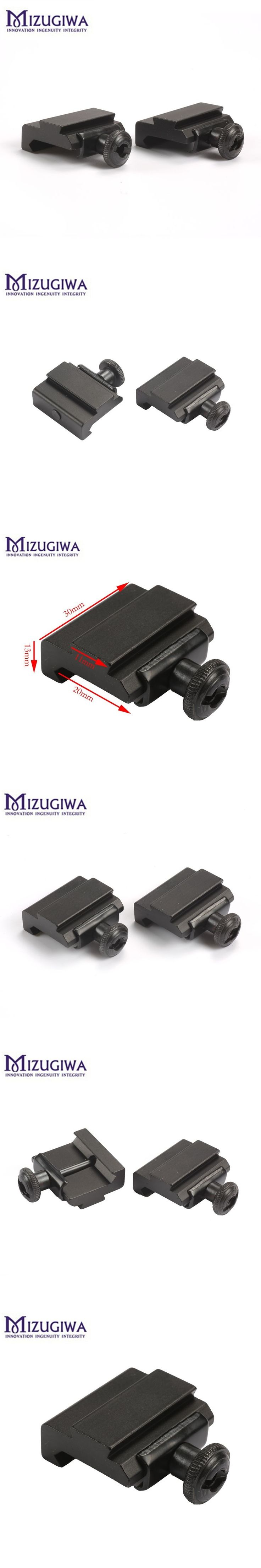 1PC  Hunting Scope Mount 20mm to 11mm Weaver Picatinny To Dovetail Rail Adapter Base Mount Caza Long 30mm