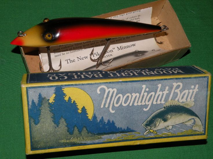 Vintage bass fishing lure images for Old fishing lures on ebay