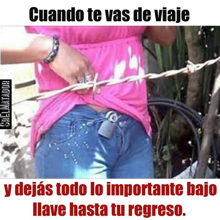 En estos tiempos hay que dejar todo enllavado. #seguridad #cinturon #cinturondeseguridad #castidad #mujer #novia #esposa #SrElMatador #ElSalvador #SV