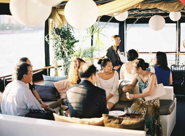 NYC Sunset Cruise Engagement Dinner. Would love to do something like this. Boat wedding?