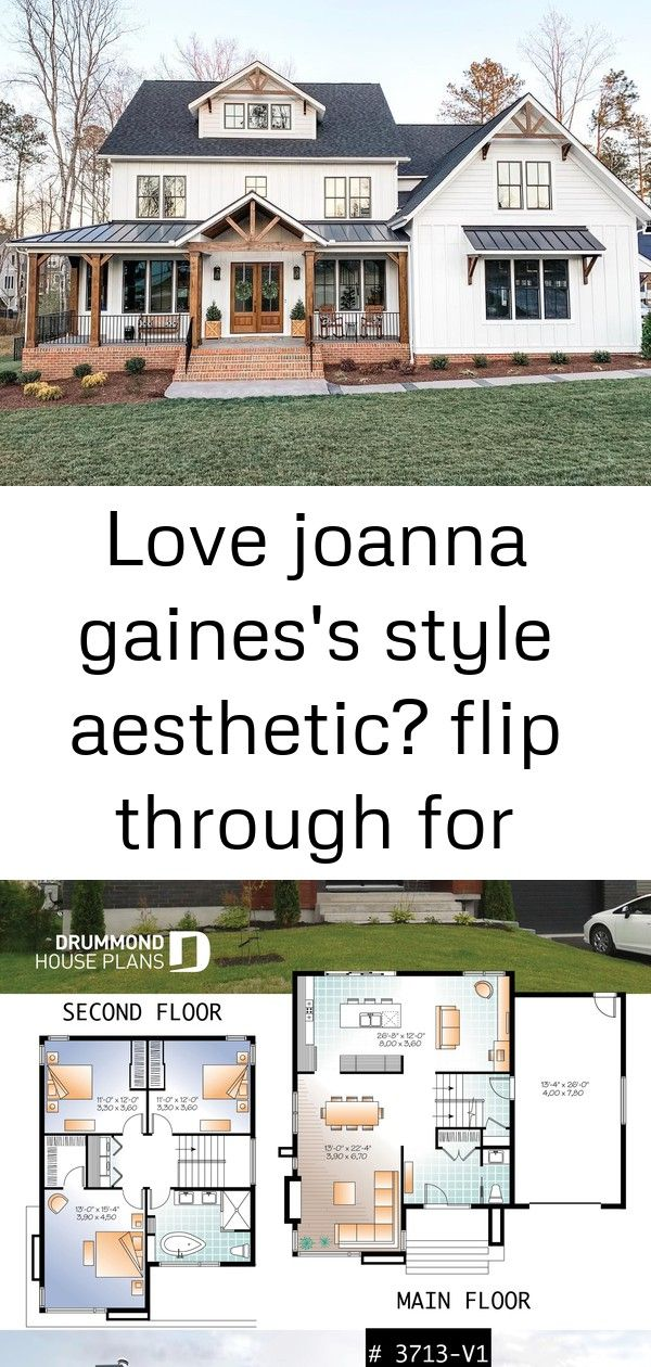 Love Joanna Gaines S Style Aesthetic Flip Through For Homes That Have That Same Modern Farmhouse Modern Farmhouse Plans Farmhouse Plans Simple Farmhouse Plans