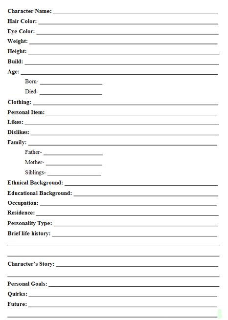 Best 25+ Character development sheet ideas on Pinterest - reference sheet template