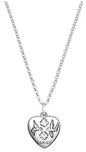 nice Gucci Women's Necklace with Pendant Blind for Love Sterling Silver 50cm–YBB45554200100U