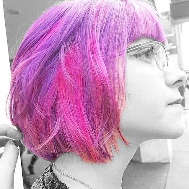 Top 100 peekaboo highlights photos What a beau 😱👌🏻🙏🏻👍🏻 #model #pmtspdx #paulmitchell #lookbook #hair #color #dye #peekaboohighlights #peekaboo #futureprofessional #fantasycolor #purple #pink #hair #edgy #punk #pop #rockstar #modsalon #stylistshopconnect #behindthechair #balayage #highlights