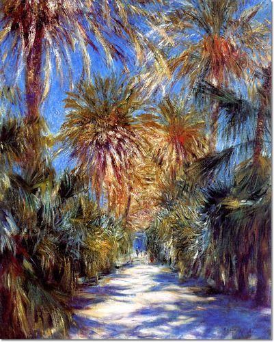 Pierre-Auguste Renoir French Impressionist Painting - Algiers the Garden of Essai, 1881