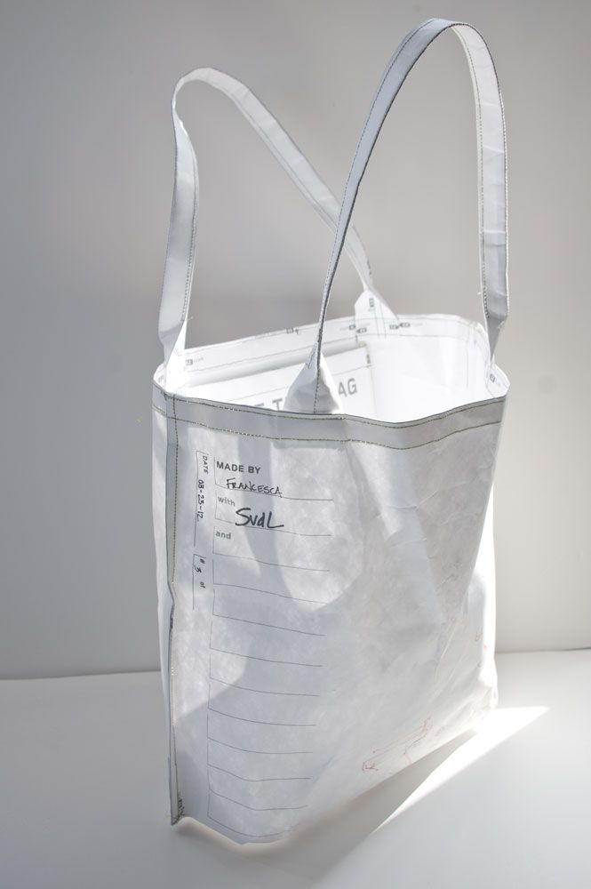 An exploration in how we distribute and follow objects. Initial prototypes used a QR code plus web interface system to record and track the story of each bag. Subsequent prototype made of Tyvek. The u...
