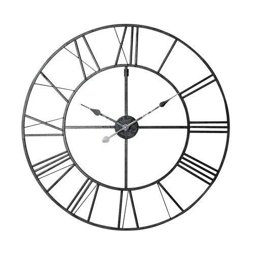 FACTORY metal clock in black D 80cm