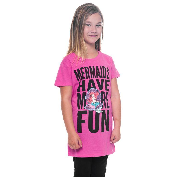 Mermaids Have More Fun Ariel Girls T-Shirt