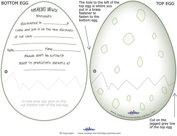 Printable Dinosaur Egg Invitations Coolest Free Printables