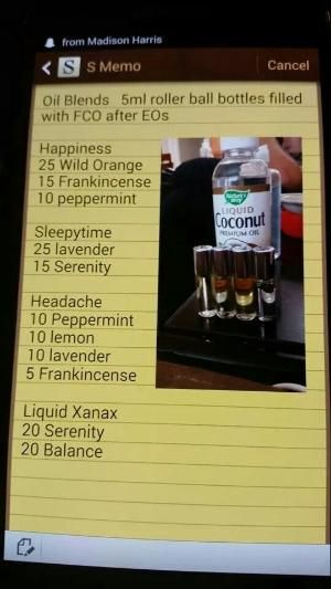 Essential Oil Blends ~ Happiness ~Headache ~ Sleeytime ~ Liquid Xanax by Connie Wolff